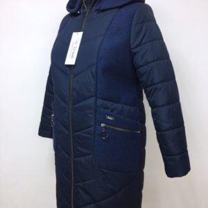 "Осенняя куртка пальто ""Адель"" синий"