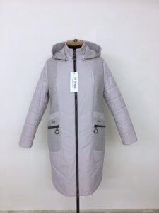 """Осенняя куртка пальто """"Адель"""" жемчуг"""