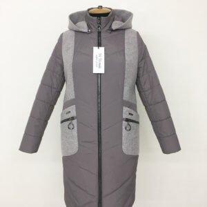 """Осенняя куртка пальто """"Адель"""" капучино"""