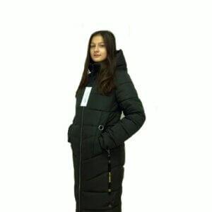 """Зимнее пальто для девушек """"Софи"""" хаки"""