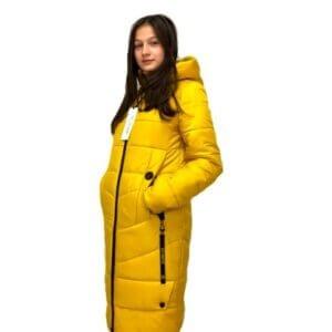 """Зимнее пальто для девушек """"Софи"""" горчица"""
