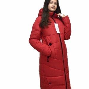 """Зимнее пальто для девушек """"Софи"""" красный"""