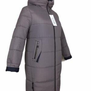"""Женское зимнее пальто """"Оливия"""" мокка"""