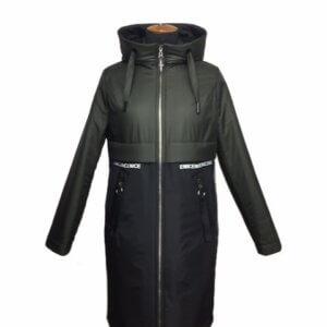 """Демисезонная женская куртка """"Парка"""" темный-хаки"""