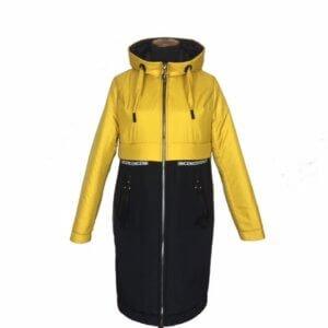"""Демисезонная женская куртка """"Парка"""" горчица"""